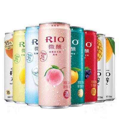 【酒廠自營】RIO銳澳心動分享裝 預調雞尾酒套餐 洋酒果酒330ml*8罐