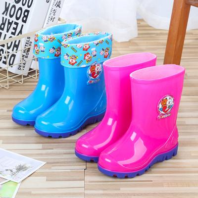 搭啵兔2-10歲兒童雨鞋男女水鞋加絨加棉卡通膠靴水靴雨靴防滑膠鞋雪地靴【3月28日發完】