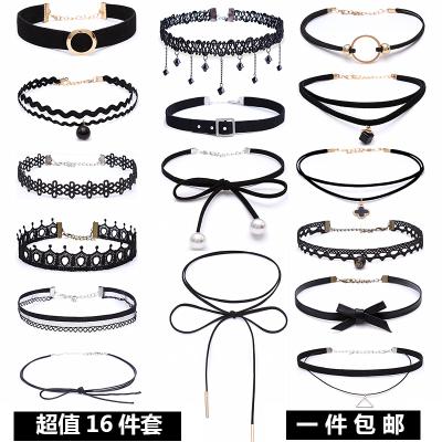 韩版简约脖子饰品成人项圈儿童颈链颈带短款脖链蕾丝锁骨链项链女