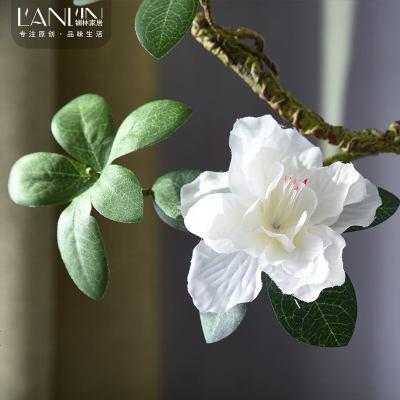 大號長枝杜鵑花仿真假花客廳餐桌落地造型插花裝飾花白色紅色粉色