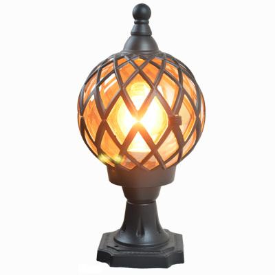 围墙灯户外柱头灯外墙灯室外水圆形柱子灯大灯庭院柱灯LED