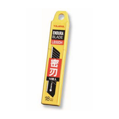 田岛 TAJIMA LCB-50D配中型美工刀(10片装)18 x 100mm 厚0.5mm 可挂式塑料盒