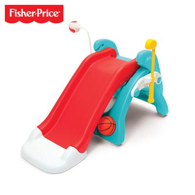 费雪Fisher-Price多功能组合滑滑梯 家用宝宝婴幼儿童大型运动游乐园男孩女孩玩具礼物 1.5-4岁 FWN21