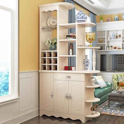 本蘭 歐式簡約客廳隔斷柜屏風進門玄關柜間廳柜門廳柜鞋柜裝飾柜