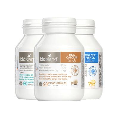 BIO ISLAND 佰澳朗德 液體乳鈣+魚油+DHA 3件裝