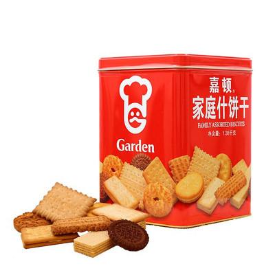 嘉顿(Garden) 家庭什饼干铁罐礼盒装1380g