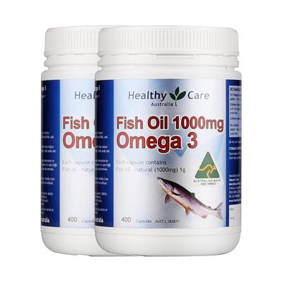 【2瓶】纳世凯尔(Healthy Care) 澳洲深海鱼油软胶囊1000mg 400粒/瓶装