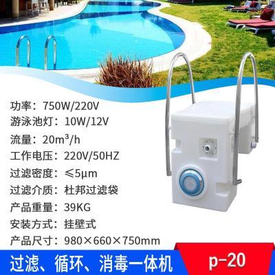 游泳池過濾循環水泵掛壁機閃電客照明過濾器一體化游泳池設備泳池掛壁機