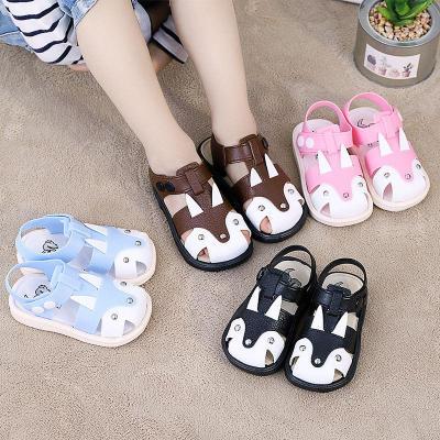 兒童包頭防尿防撞學步鞋夏季嬰兒軟底1-7歲男寶女寶居家外穿涼鞋