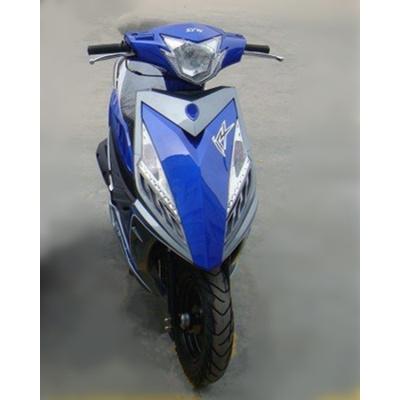 澳派電摩戰速鬼火三代全套鯊魚外殼摩托車改裝配件奧龍巧格五代通用 寶藍色60亮透明藍配銀