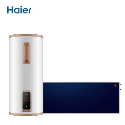 海尔(Haier)AE3系列家用壁挂式平板太阳能热水器全自动上水WIFI智控液位视窗防电墙带电加热 集热器东出口【100