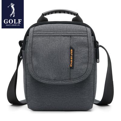 高爾夫(GOLF)單肩包男2020新品潮流休閑斜跨包小豎款男士包包商務帆布背包防潑水錦綸男包1