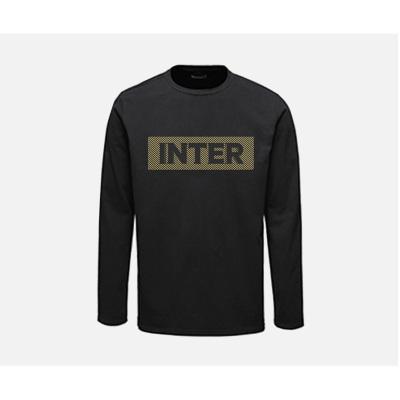 国际米兰俱乐部Inter Milan 2019新款长袖t恤男修身中青年圆领运动休闲T恤男装打底衫户外弹力套头衫