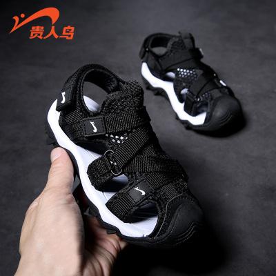 貴人鳥男童涼鞋包頭軟底小童新款夏季寶寶兒童鞋子韓版中大童沙灘鞋