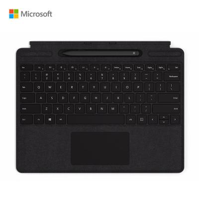 【新品】微軟(Microsoft)Surface Pro X 帶超薄觸控筆的特制版專業鍵盤蓋 黑色