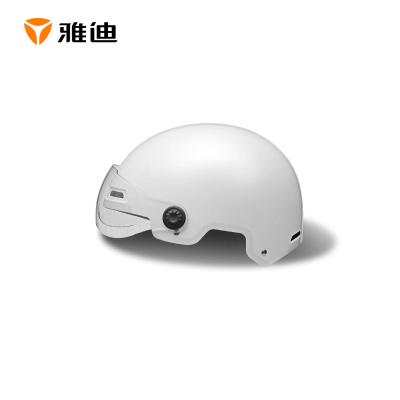 雅迪電動車3C認證頭盔男女通用四季半覆式頭盔夏季透氣防曬3C頭盔