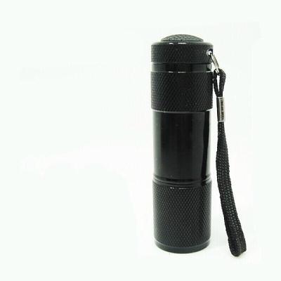 9LED測試熒光劑檢測筆紫光燈手電筒迷你驗鈔燈小型照玉石防偽