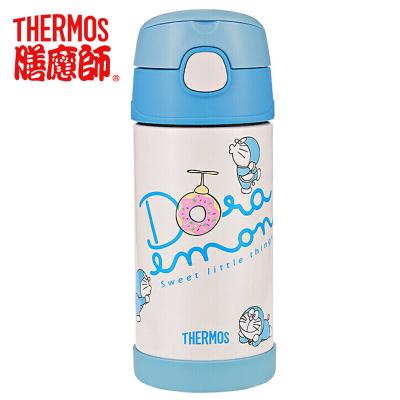 膳魔師(THERM0S) 兒童吸管水杯卡通哆啦A夢真空不銹鋼保溫杯可愛學生杯 F4011