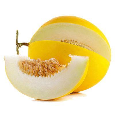 果農富【2件起售】陜西金香玉甜瓜 2.5±0.1斤 兩份合發3-4個 黃金甜瓜當季新鮮水果黃皮香瓜蜜瓜18°蜜