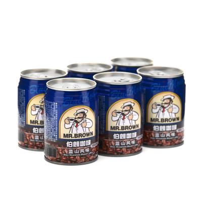 MR.BROWN伯朗咖啡藍山風味濃咖啡飲料240ML*6罐