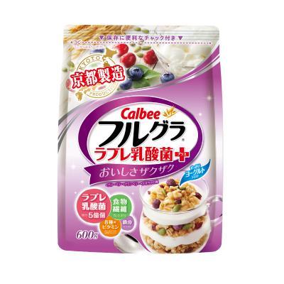 【酸甜乳酸菌】卡乐比(Calbee)即食麦片 乳酸菌味 600g/袋 水果麦片 谷物早餐 方便速食 代餐 日本进口
