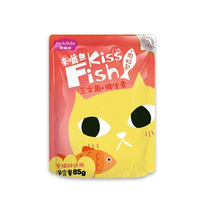 麥富迪肉粒包貓濕糧85g*12三文魚+維生素 成貓親嘴魚系列
