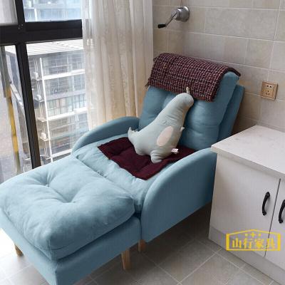 懶人沙發 單人陽臺躺椅臥室小沙發椅榻榻米休閑小型折疊靠背椅