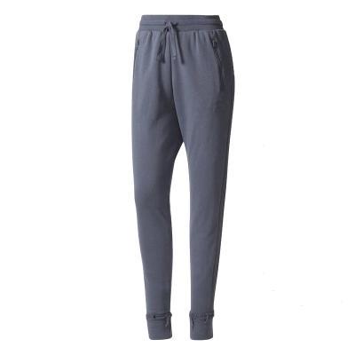 adidas 阿迪达斯 三叶草 女士耐磨舒适深青灰运动长裤 BR4624