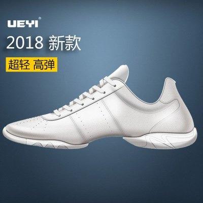 悦翼UEYI竞技健美操鞋白色健美操鞋啦啦操鞋儿童软底男女