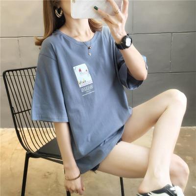 運動T恤女短袖寬松2020新款夏季潮打底衫威珺