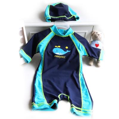 milky friends兒童防曬海泳衣洋探險家男童連體泳衣男童泳褲寶寶游泳衣分體平角泳衣泳帽套裝