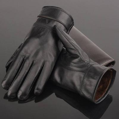 触屏加绒皮手套 男女 保暖防水pu皮手套