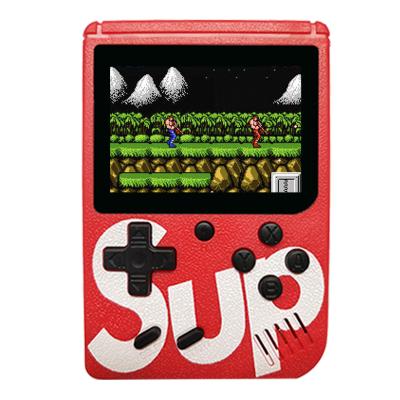 霸王小子迷你復古游戲機PSP掌機FC經典懷舊兒童益智親子互動雙人游戲機俄羅斯方塊機抖音同款禮物 紅色SUP單人版