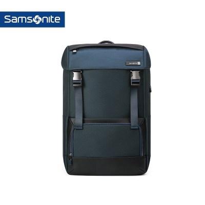 Samsonite/新秀丽双肩包男 时尚潮流背包2018新款抽绳电脑包DV5蓝色