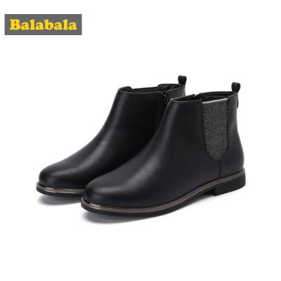 巴拉巴拉女童靴子秋冬季兒童短靴大童公主加絨韓版鞋子潮洋氣時尚