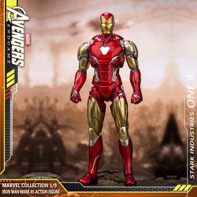 咪咕復仇者聯盟4鋼鐵俠蜘蛛俠手辦美國隊長擺件MK85漫威周邊玩具