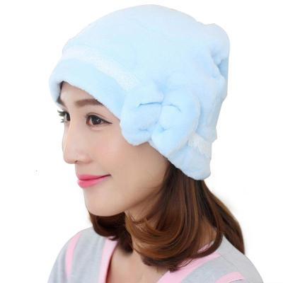高品質月子帽 加厚珊瑚絨秋冬季產婦帽孕產用品