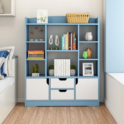 書架落地簡約收納柜子桌上簡易置物架經濟型學生小書柜省空間客廳