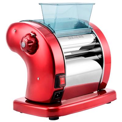 拜杰(Baijie)電動面條機家用壓面機搟面機全自動不銹鋼和面壓面機餃子皮機商用多功能切面機紅色圓面