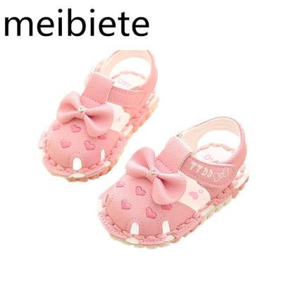 夏季女寶寶涼鞋0-2歲新款愛心女童軟底嬰兒鞋公主學步鞋