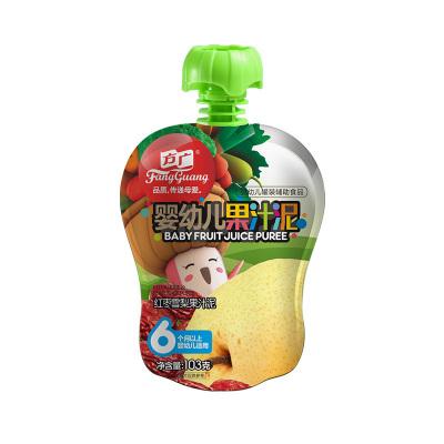 方广 宝宝辅食 红枣雪梨果汁泥103g/袋装(6个月以上婴幼儿适用)儿童零食 蔬果泥 果泥
