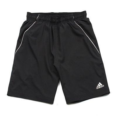 adidas阿迪達斯男子運動短褲透氣休閑運動服O04785 L O04785黑+白