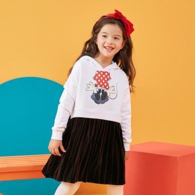【1件3折价:72】moomoo童装女童连衣裙2019新款春装迪士尼时尚儿童女孩针织裙子