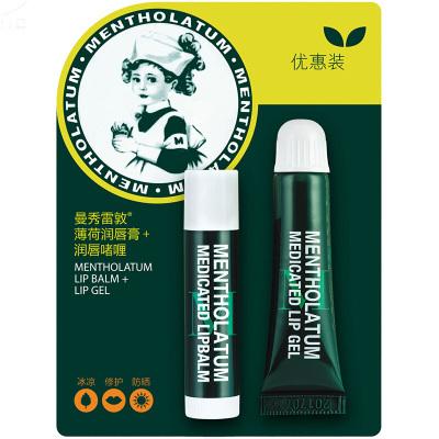 曼秀雷敦MENTHOLATUM薄荷潤唇啫喱(8g)+薄荷唇膏(3.5g) SPF15 套裝 保濕唇膏