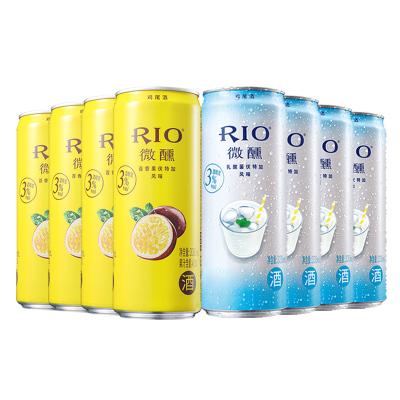【酒廠自營】RIO銳澳微醺預調雞尾酒套裝女士百香果乳酸菌風味330ml*8罐