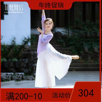 中国舞民族古典舞蹈练功服女成人身韵纱衣网纱飘逸上衣阔腿裤套装