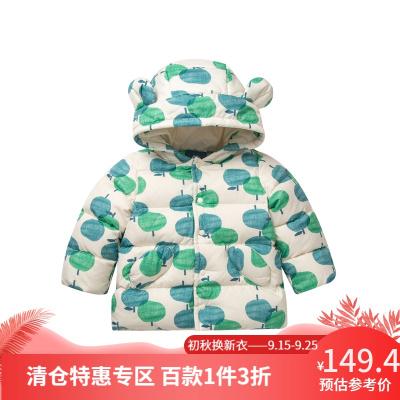 迷你巴拉巴拉嬰兒羽絨服女寶寶印花羽絨外套新年冬裝新品兒童上衣