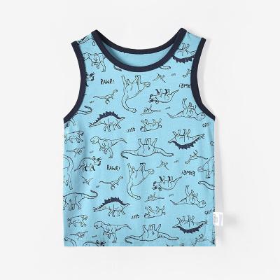 鉛筆俱樂部童裝2020夏裝新款男童T恤兒童背心純棉小童無袖上衣薄