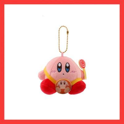 【精品好貨】日系星之卡比毛絨掛件可愛粉色少女心包包掛飾卡通公仔生日萌 桔色糖果卡比
