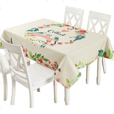 布萊夢小清新家用長方形茶幾桌布餐桌布臺布加厚棉麻布藝桌布